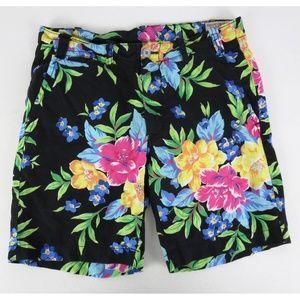 Polo Ralph Lauren Sz 31 Floral Shorts Linen Cotton